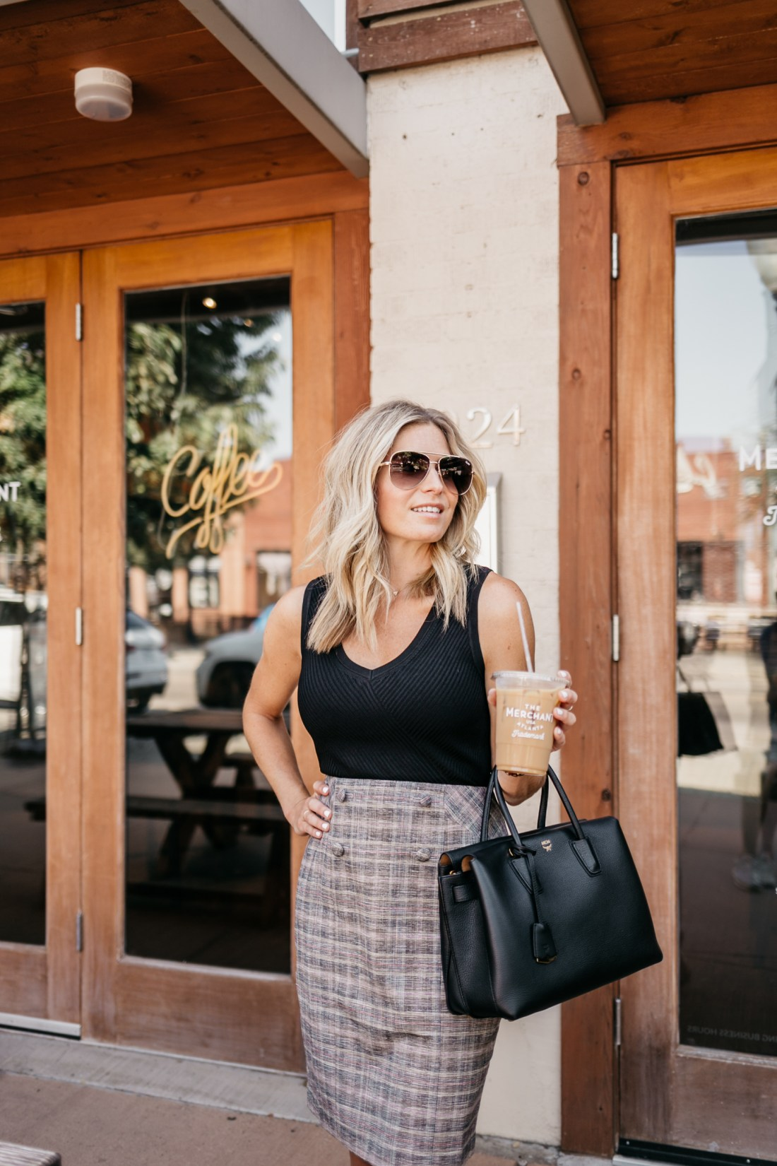 Wondering how to stay organized? Brooke thinks about this question in front of a coffee shop