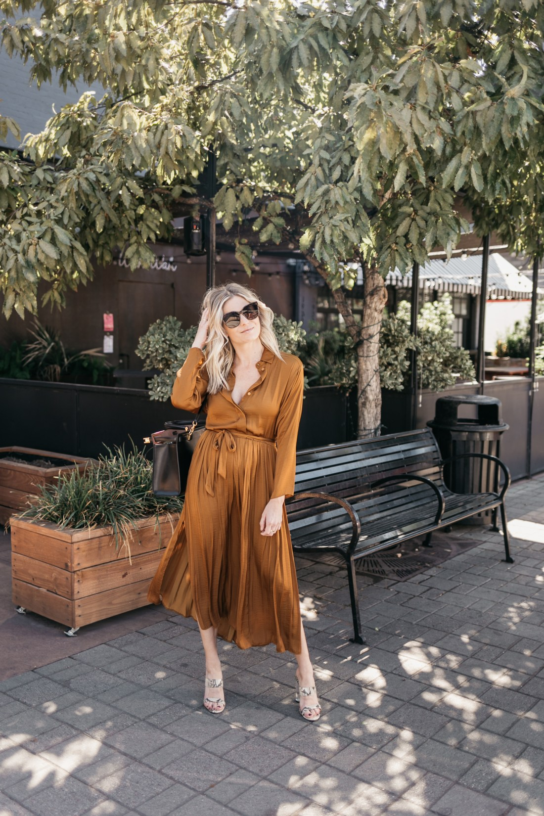 COPPER DRESS FOR WORK for fall