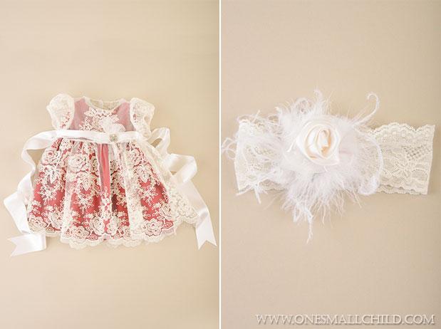 Ella Baby Holiday Dress & Headband | One Small Child