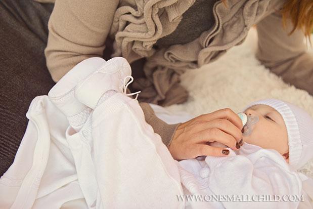 Braxton Knit Romper Fall Christening 2013 | One Small Child