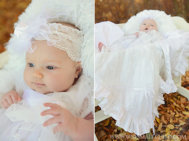 Tallie Dress Nataila Blanket Fall Christening 2013 | One Small Child