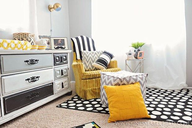 Bold Black Grey Gold Baby Boys' Room | Kingston's Nursery at One Small Child