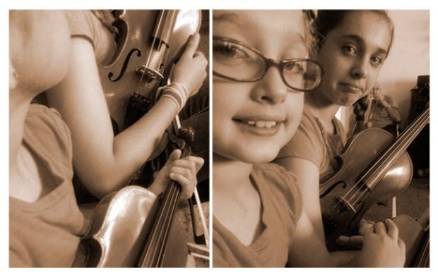 Violins with Grandma | Family