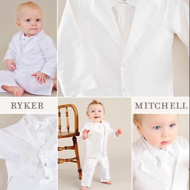 Mitchell + Ryker Baby Boy Wedding Suits