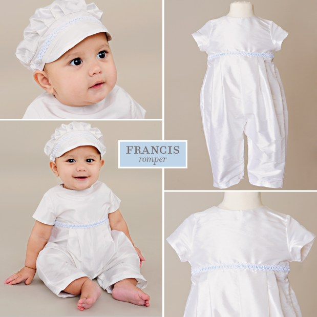 Francis Silk First Birthday Romper