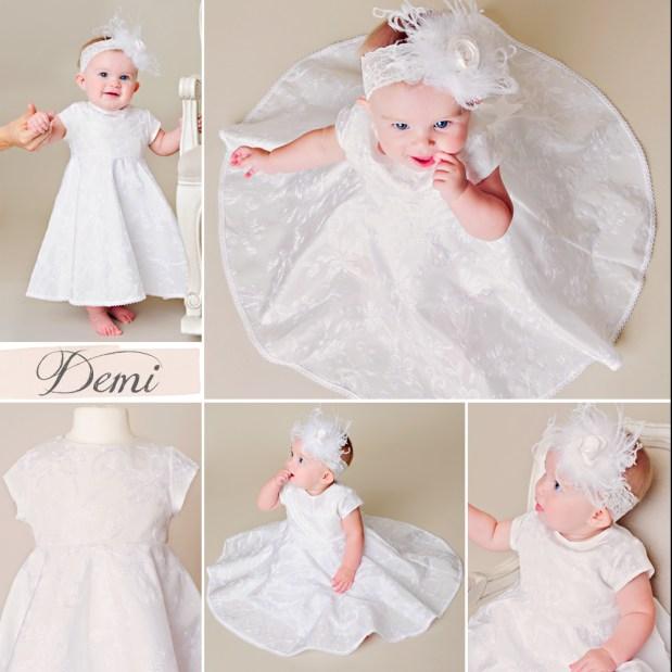 Demi Circle Skirt Christening Dress
