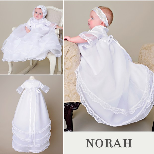 Norah Hi-Low Christening Dress