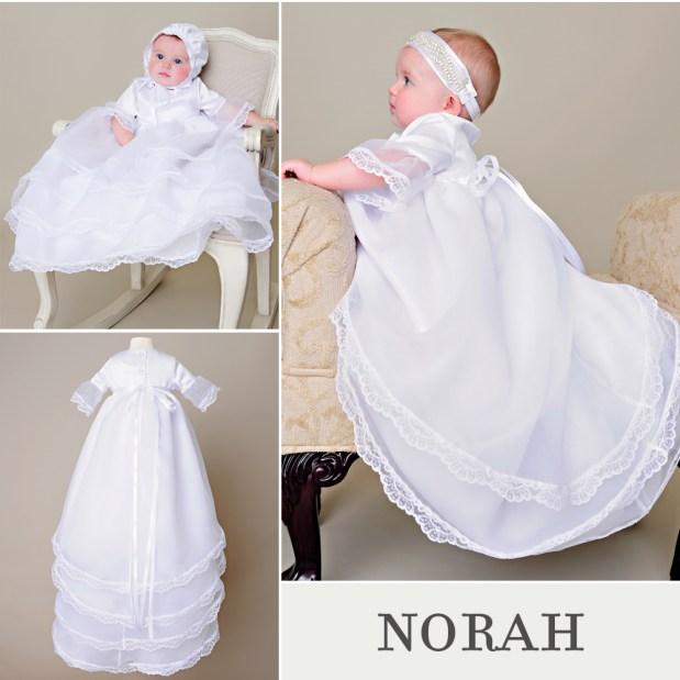Norah Hi-Low Christening Dress