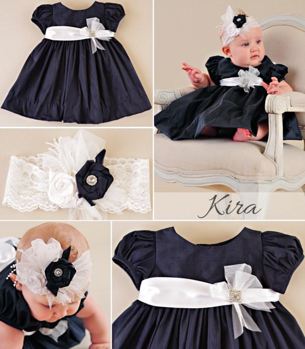 Kira Navy Party Dress for Baby Girl