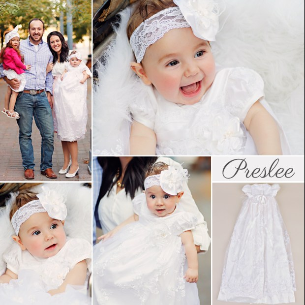 Preslee Silk Christening Gown