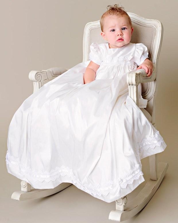 Mariana Silk Christening Gown