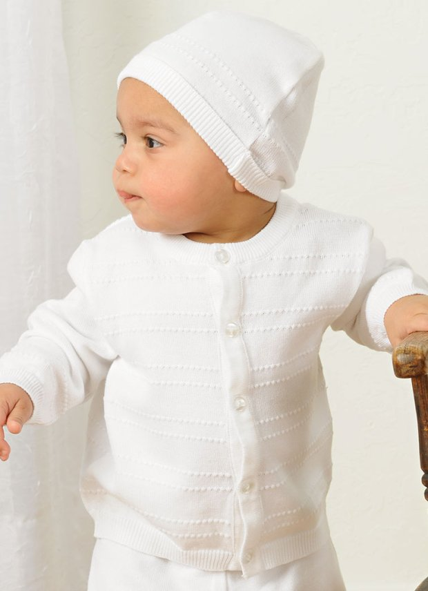 Aiden Knit Baptism Boy Outfit