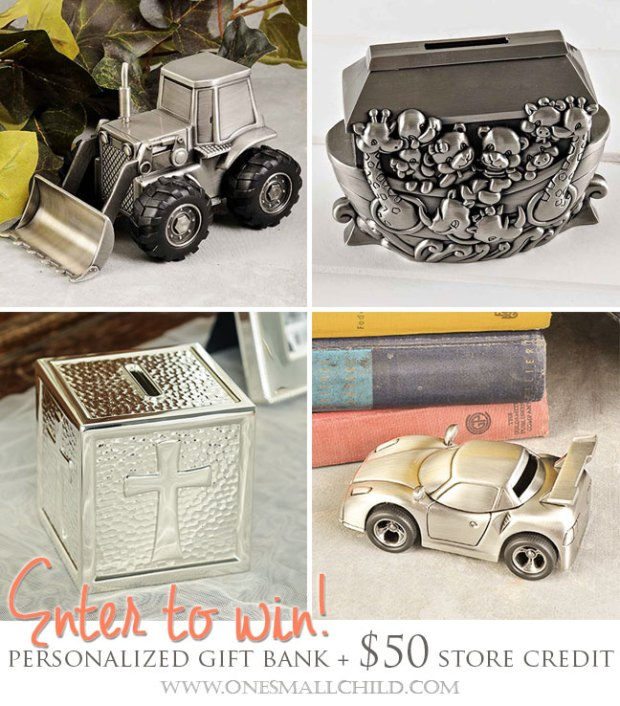 Personalized Gift Banks   Giveaways at One Small Child