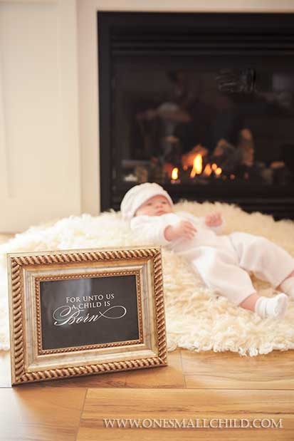 Christmas Christening Portrait Ideas | One Small Child