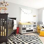 black grey gold baby boy room