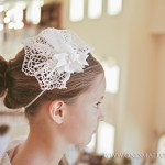 Cross Lace Fascinator First Communion Headpieces   Hair Accessories for Girls