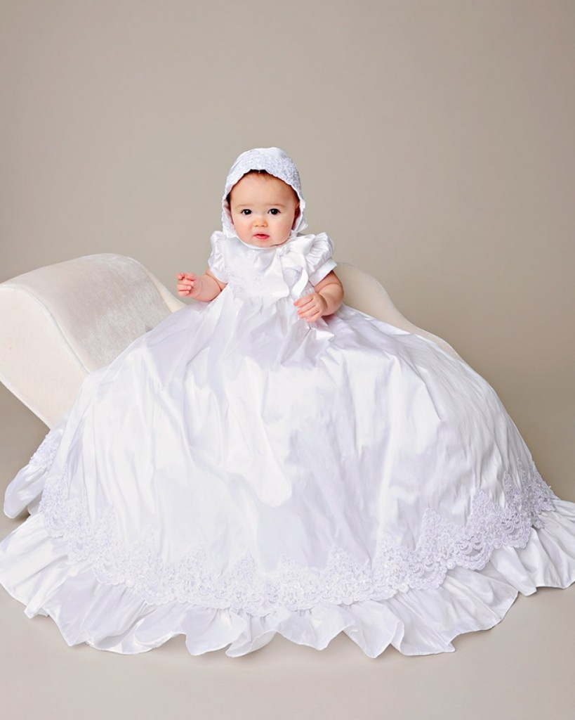 Esther Silk Christening Gown