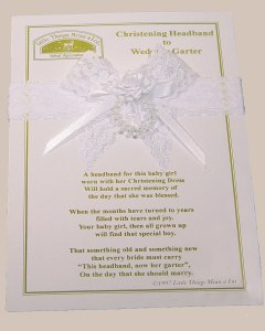 Christening Headband to Wedding Garter - AHEAD2