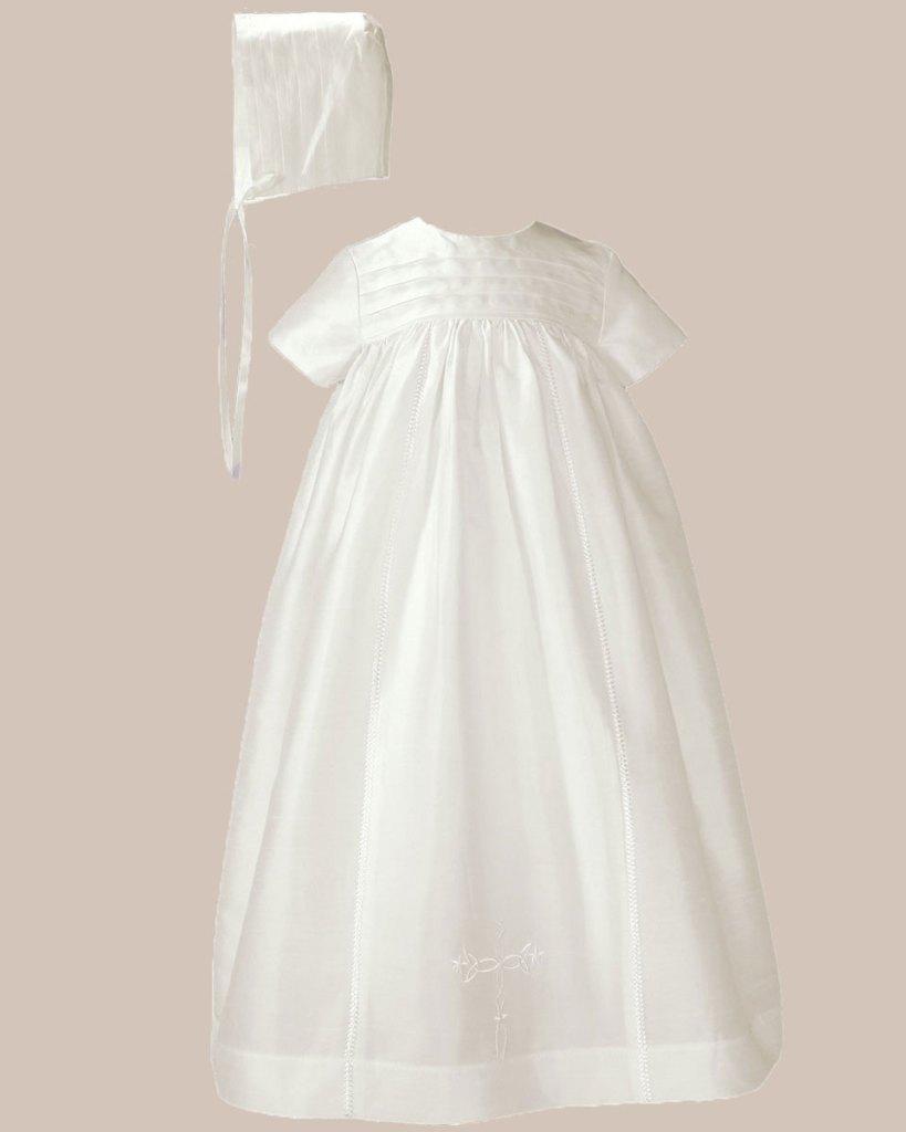 "Silk 26"" Family Christening Baptism Gown"