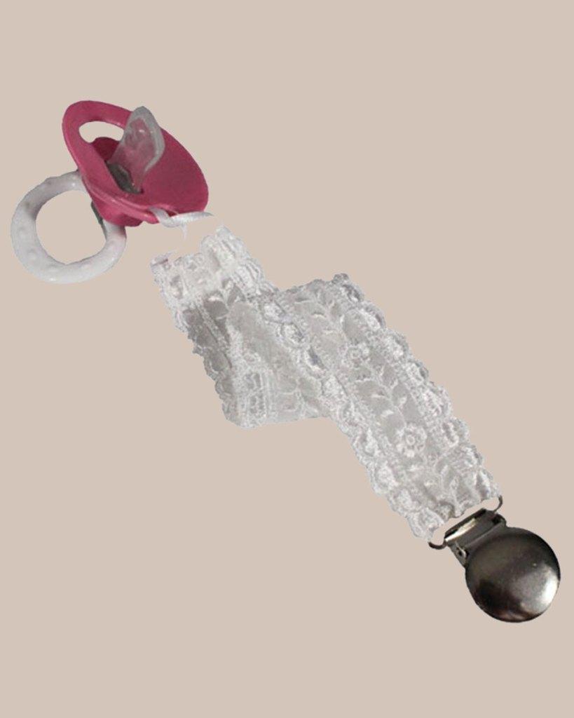 Unisex Universal Elegant and Fancy Pacifier Clip - Floral Lace