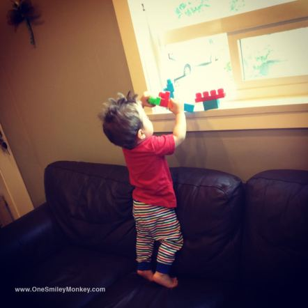 Building towers on the couch