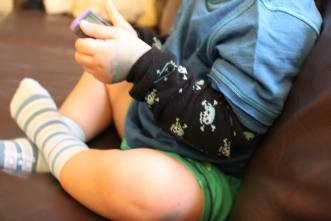 Babylegs as arm warmers