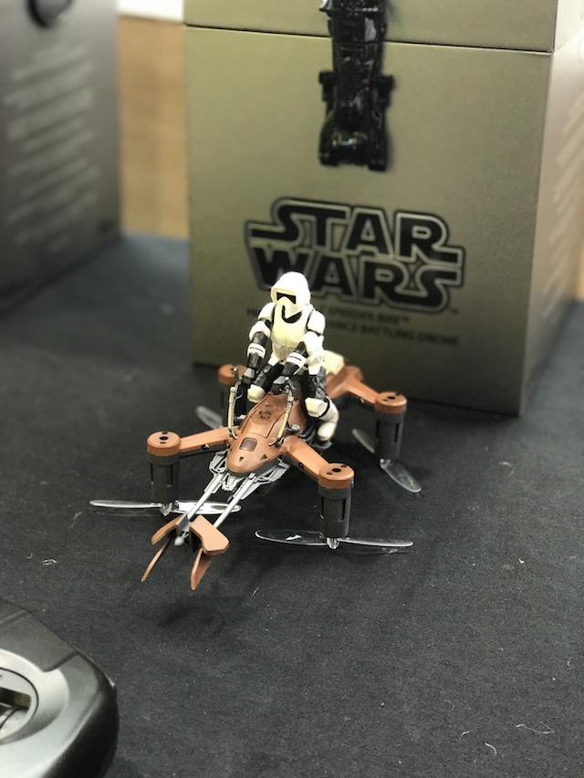 Propel RC Star Wars Speeder Bike Battling Quadcopter