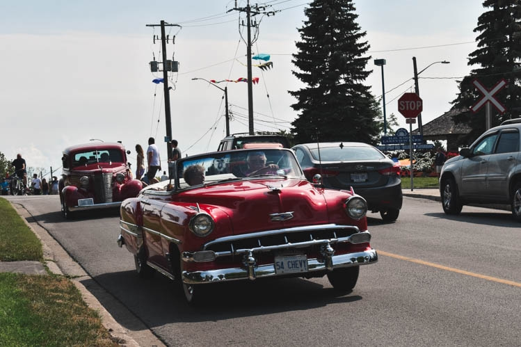 Port Colborne... tall ships, antique cars and cotton candy