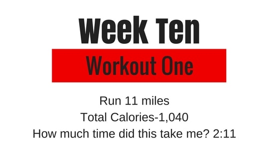 a graphic for TM training week 10 workout 1