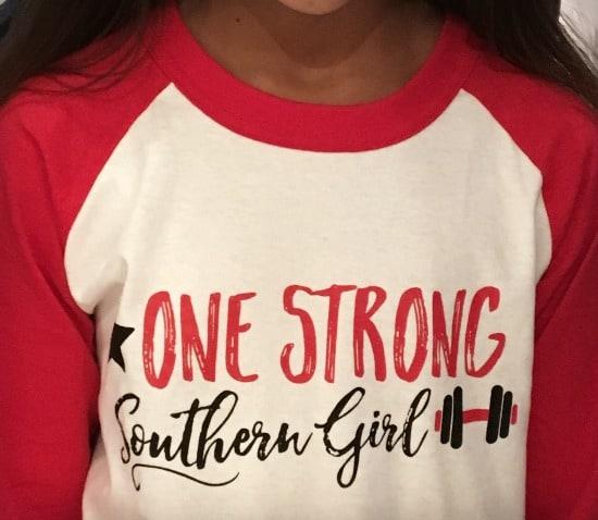One Strong Southern Girl baseball tee
