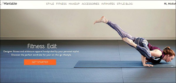 Wantables Fitness Edit home page