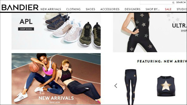 Bandier is one of the top fitness apparel sites for women