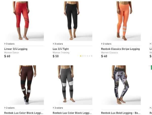 Reebok sells cool gym apparel for women