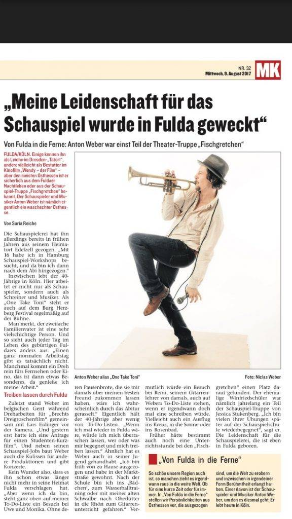 Interview, Anton Weber, Suria Reiche, Marktkorb, Fulda, Schauspieler