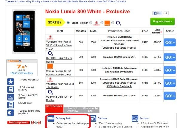 white nokia lumia