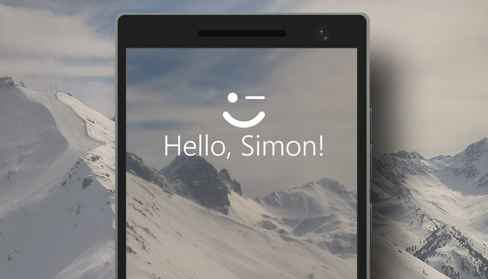 Windows Hello Header with fingerprint