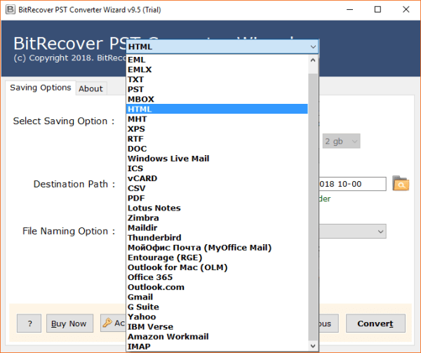 PST to HTML Converter to Export Outlook PST to HTML with ...