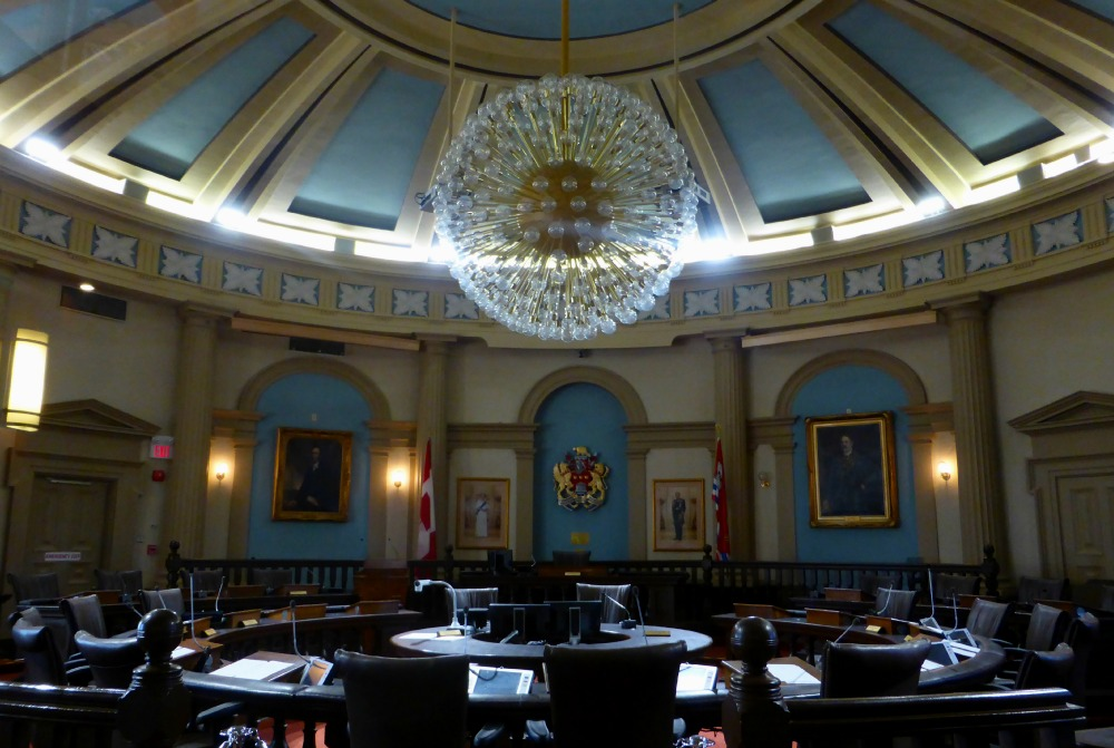 Ontario Hall in Kingston's City Hall