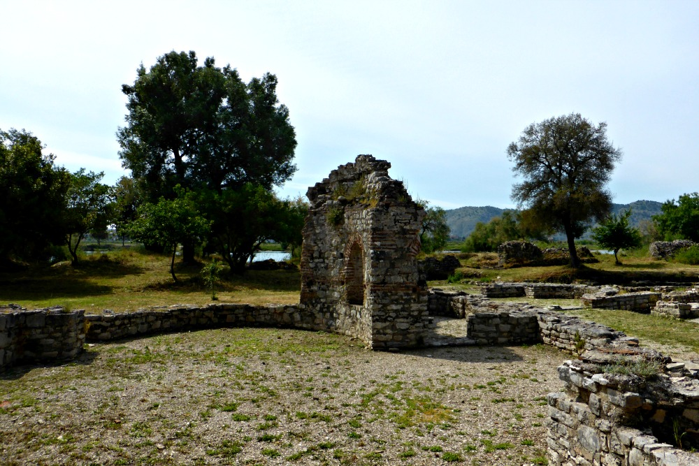 Remains of Triconch Palace at Butrint, Albania