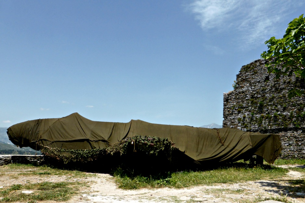 American fighter plane on Gjirokastra Castle, Albania