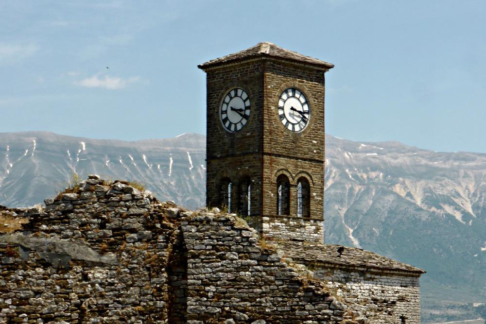 Clock Tower in Gjirokastra Castle, Albania
