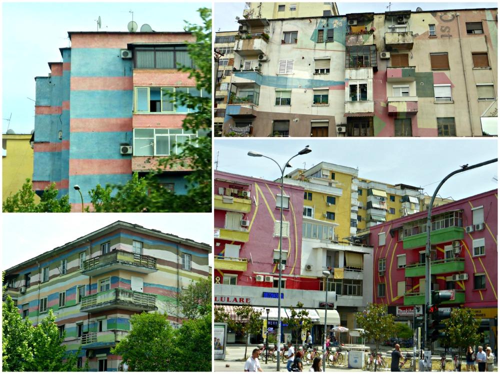 Colorful apartments, Tirana, Albania