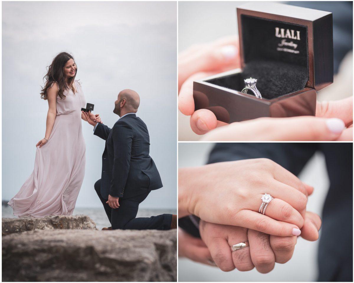 engagement diamond ring photography