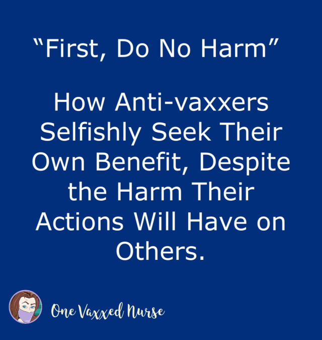 First, Do No Harm….