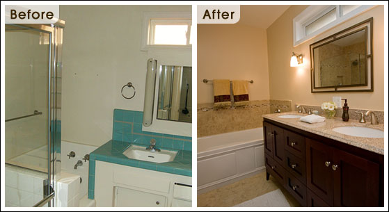Bathroom Remodel Spotlight  The Moreta Project   One Week Bath Before and After Bath Photos