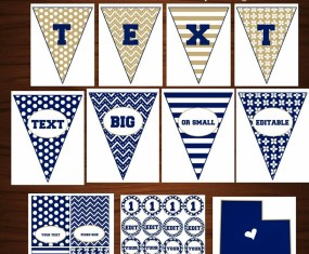 BYU Blue Printable Party Package