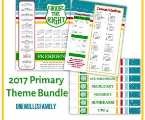2017 LDS Primary Theme Bundle: Choose the right