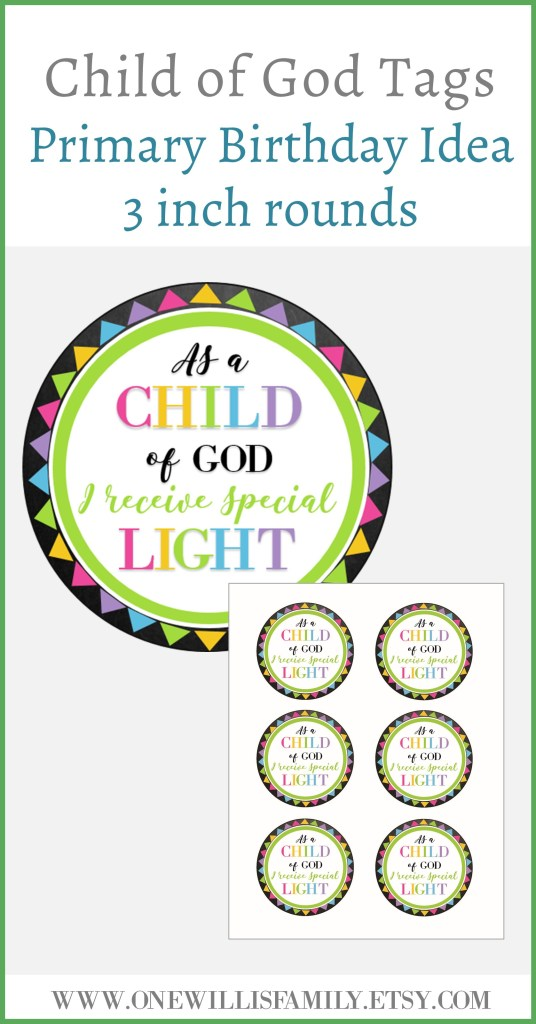 As a child of God I receive Special Light