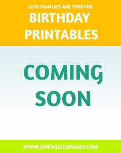 2019 Primary Theme Birthday
