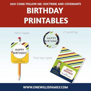 2021 Doctrine and Covenants Birthday Printables